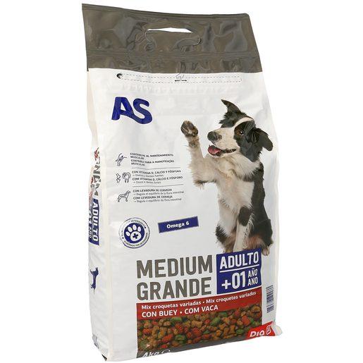 AS alimento para perros menú mix completo y variado con buey bolsa 4 Kg
