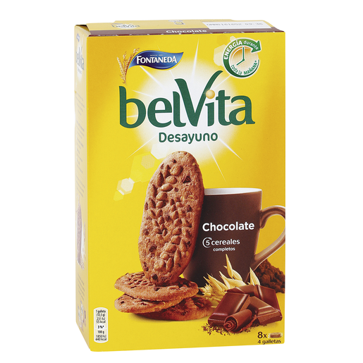 FONTANEDA Belvita desayuno galletas cereales y chocolate caja 400 gr