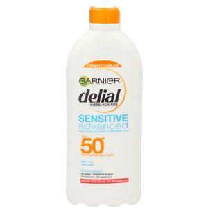 DELIAL Sensitive advanced leche solar protectora spf 50 bote 400 ml