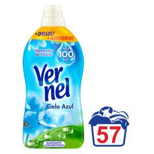 VERNEL suavizante concentrado azul botella 57 lv
