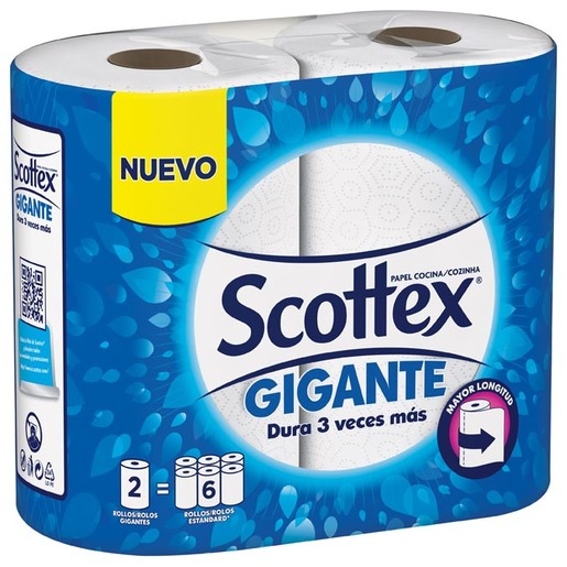 SCOTTEX papel de cocina gigante paquete 2 rollos