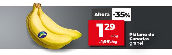 Oferta plátano de Canarias en dia.es