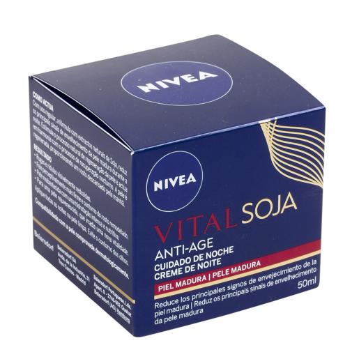 NIVEA Vital soja anti age crema de noche antiarrugas con soja tarro 50 ml