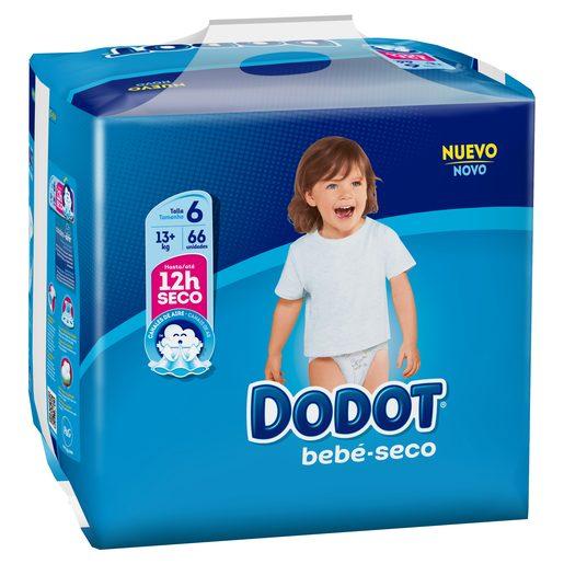 DODOT Azul pañales +13 kgs talla 6 paquete 66 uds