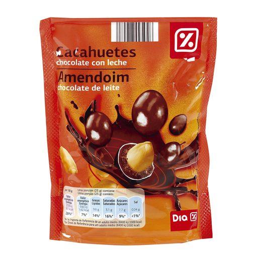 DIA cacahuetes recubiertos de chocolate bolsa 250 gr