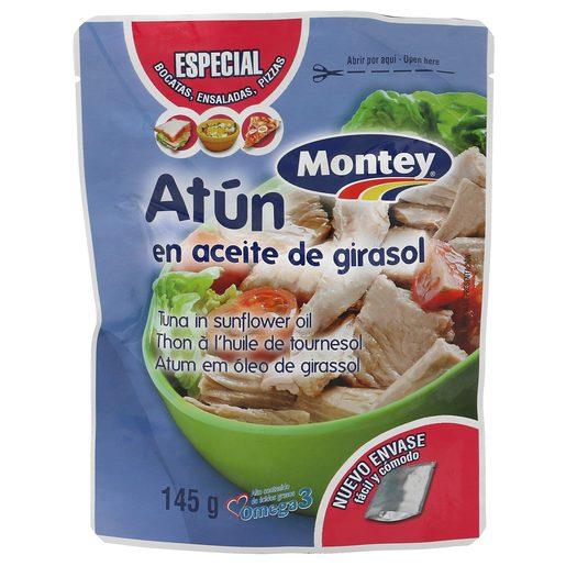 MONTEY atún en aceite de girasol bolsa 135 gr