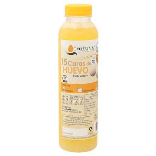 OVONATUR claras de huevo pasteurizadas botella 500 ml