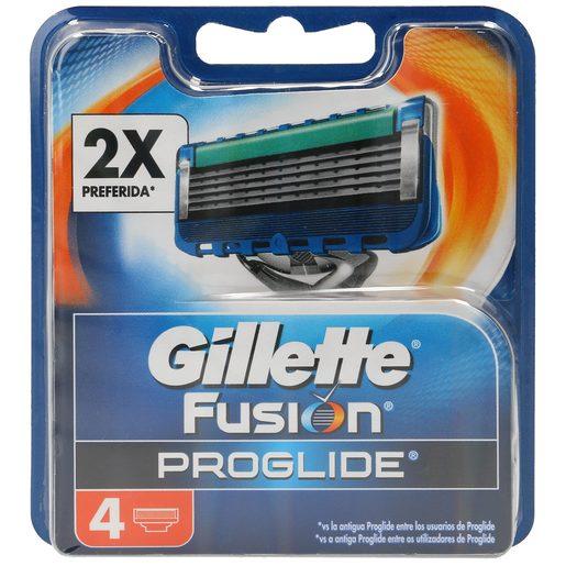 GILLETTE Fusion proglide maquinilla de afeitar recambio blíster 4 uds