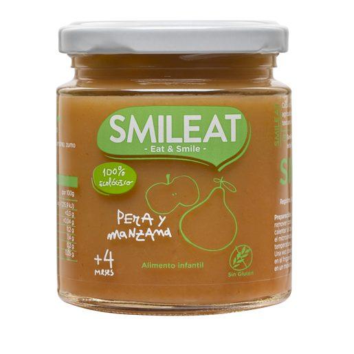 SMILEAT pera y manzana 100% ecológica tarrito 230 gr