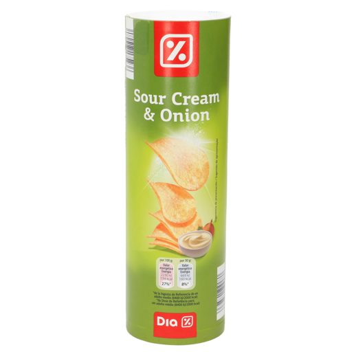 DIA snack patatas sour cream & onion tubo 150 gr
