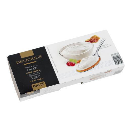DIA DELICIOUS yogur griego con miel pack 2 unidades 125 gr