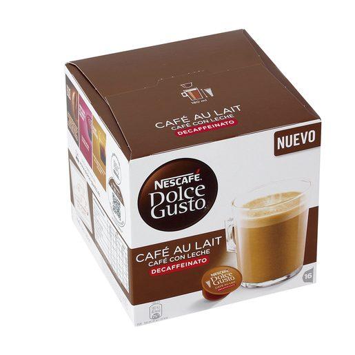 DOLCE GUSTO café con leche descafeinado caja 16 cápsulas