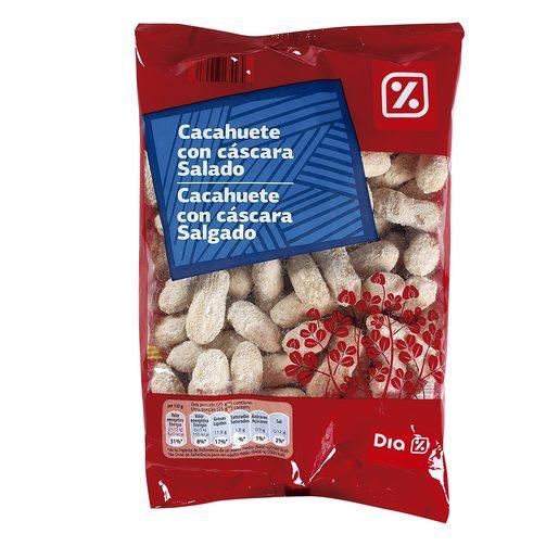 DIA cacahuetes con cáscara salados bolsa 400 gr