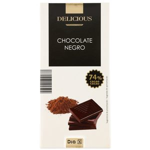 DIA DELICIOUS chocolate negro 74% tableta 100 gr