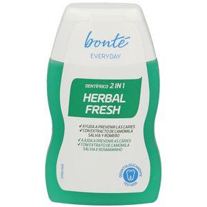 BONTE pasta dentífrica 2 en 1 herbal fresh bote 100 ml