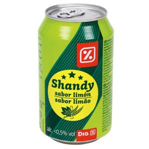 DIA Shandy cerveza con limón lata 33 cl
