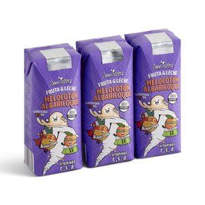 DIA ZUMOSFERA bebida de frutas con leche melocotón y albaricoque pack 3 unidades 330 ml
