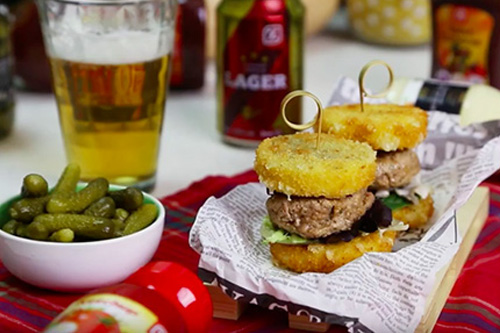 Mini hamburguesa de queso