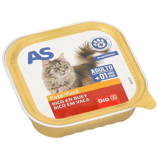 AS paté para gatos rico en buey tarro 100 gr