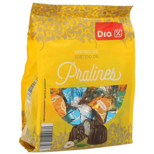 DIA pralinés surtidos leche y avellanas bolsa 300 gr