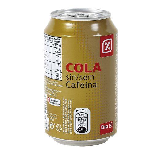 DIA refresco de cola sin cafeína lata 33 cl