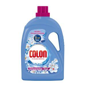 COLON detergente máquina líquido gel sensaciones azul botella 31 lv