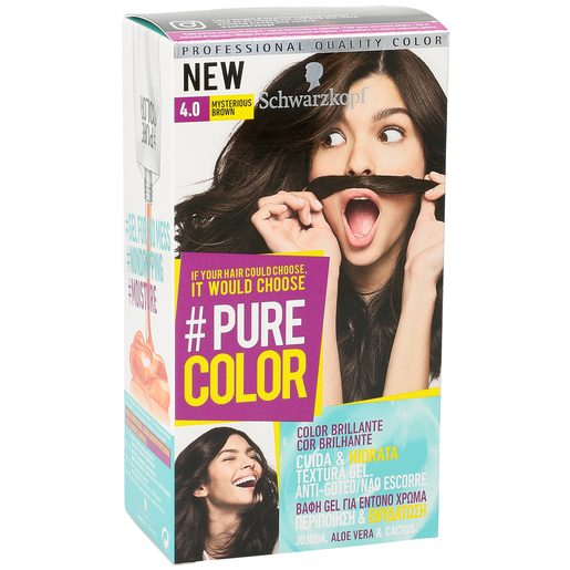 PURE COLOR tinte Mysterious Brown Nº 4.0 caja 1 ud