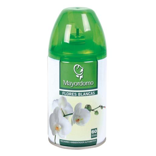 MAYORDOMO ambientador automático aroma flores blancas spray 335 ml