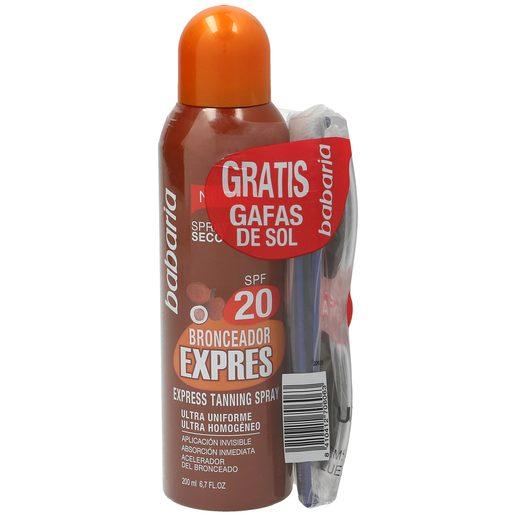BABARIA bronceador express spf 20 spray 200 ml