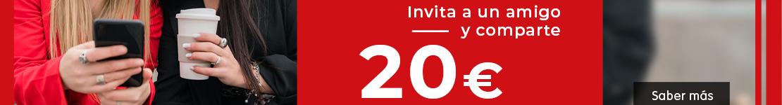 Invita a un amigo y comparte 20€