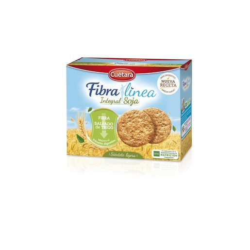CUETARA galletas de fibra integral con soja paquete 550 gr