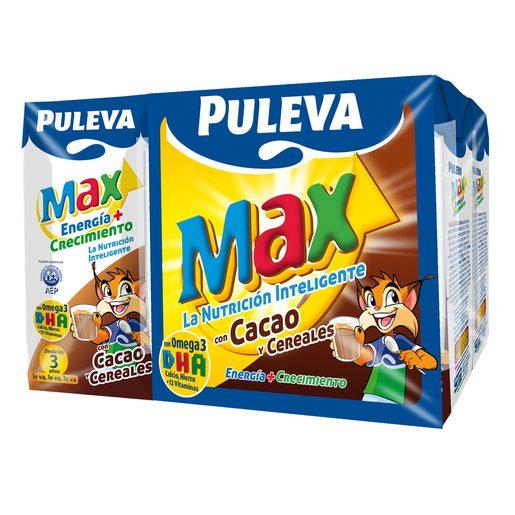 PULEVA Max cereales y cacao mini pack 6 unidades 200 ml