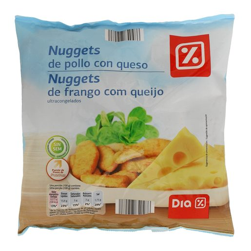 DIA nuggets pollo y queso bolsa 500 gr