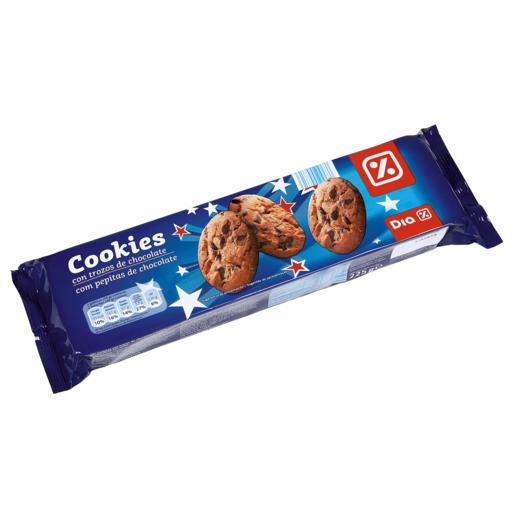 DIA galleta con chips de chocolate 37% estuche 225 gr