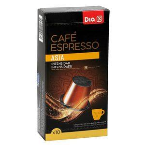 DIA café expresso asia 10 cápsulas caja 53 gr