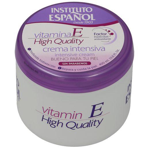 INSTITUTO ESPAÑOL crema corporal intensiva vitamina E tarro 400 ml
