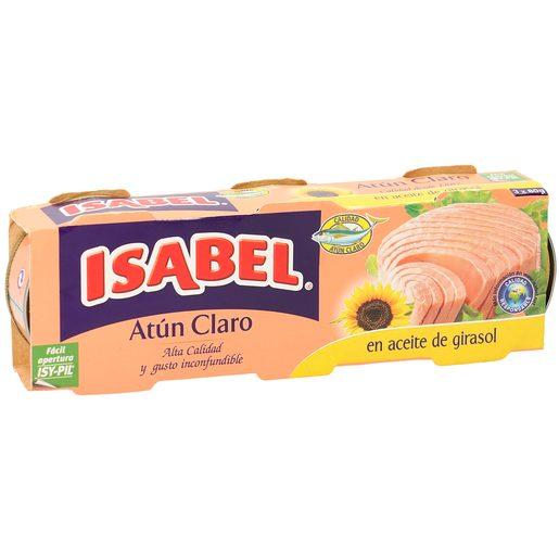 ISABEL atún claro en aceite de girasol pack 3 latas 156 gr