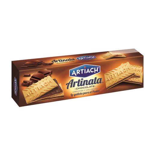 ARTIACH barquillo relleno de crema de chocolate paquete 210 gr