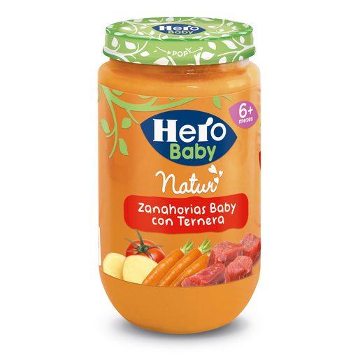 HERO Baby zanahorias con ternera tarrito 235 gr
