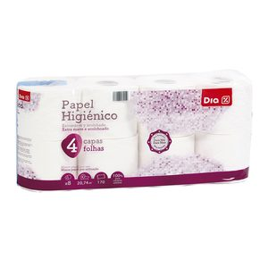 DIA papel higiénico 4 capas paquete 8 uds