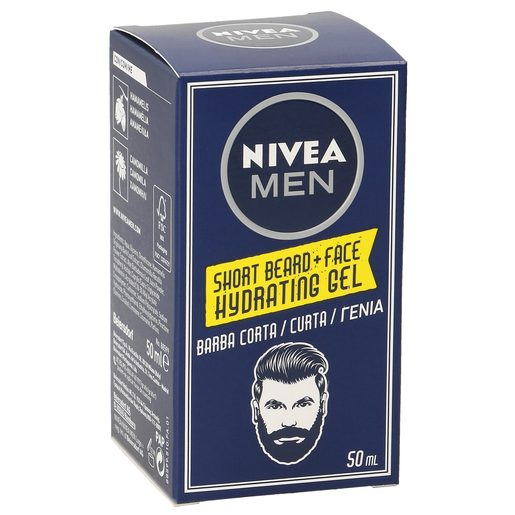 NIVEA Men gel hidratante para barba corta caja 50 ml