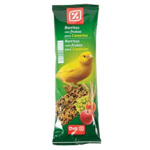 DIA barritas con frutas para canarios bolsa 70 gr