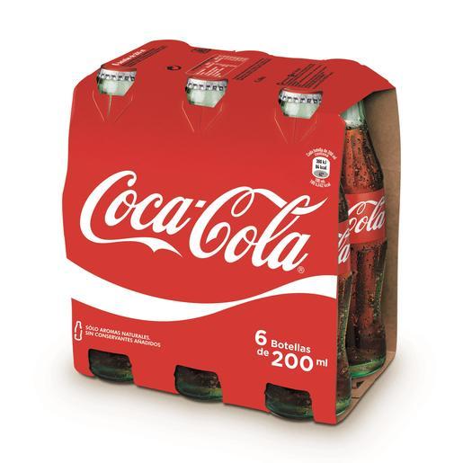 COCA COLA clásica pack 6 botellas 20 cl