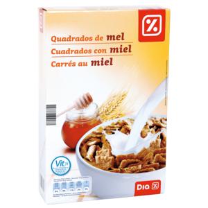 DIA cereales cuadrados con miel paquete 500 gr