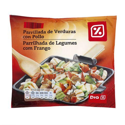 DIA parrillada de verduras con pollo bolsa 500 gr