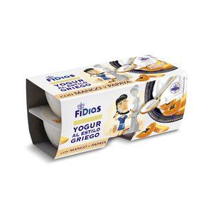 DIA FIDIAS yogur griego con mango y papaya pack 4 unidades 125 gr
