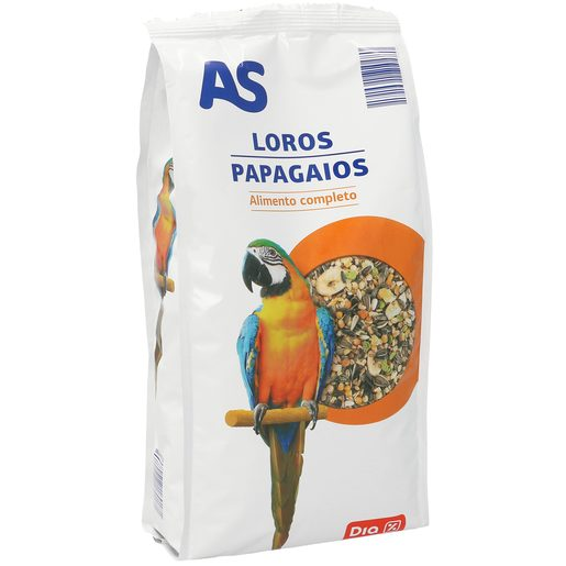 AS alimento completo para loros bolsa 1 Kg