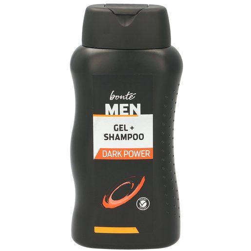 BONTE gel + champú 2 en 1 dark power bote 300 ml
