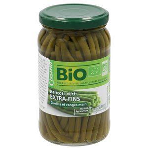 CASINO BIO judías verdes extra finas al natural frasco 180 gr