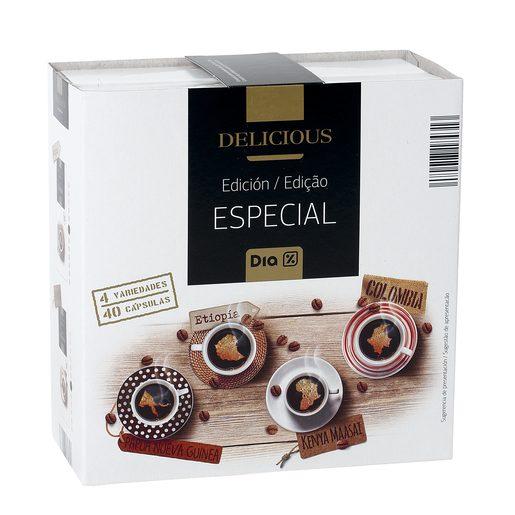 DIA DELICIOUS café edición especial 40 cápsulas caja 208 gr